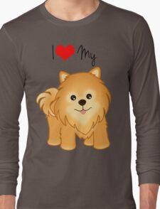 Cute Little Pomeranian Puppy Dog Long Sleeve T-Shirt