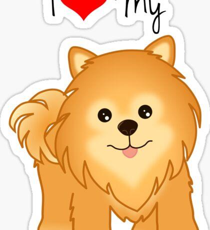 Cute Little Pomeranian Puppy Dog Sticker