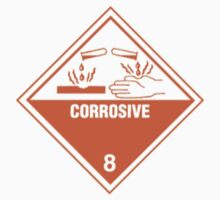 corrosive warning sign by Federica Cacciavillani