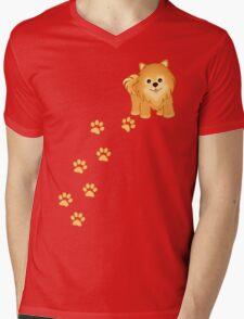 Cute Little Pomeranian Puppy Dog Mens V-Neck T-Shirt