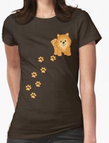 Cute Little Pomeranian Puppy Dog Womens Fitted T-Shirt