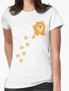 Cute Little Pomeranian Puppy Dog Womens Fitted T-Shirt