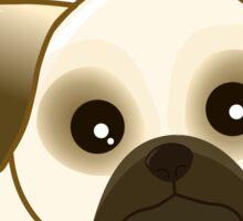 Cute Little Pug Puppy Dog Sticker