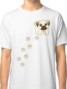 Cute Little Pug Puppy Dog Classic T-Shirt