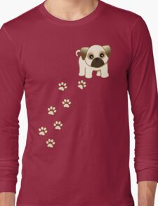 Cute Little Pug Puppy Dog Long Sleeve T-Shirt