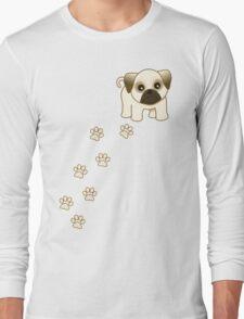 Cute Little Pug Puppy Dog Long Sleeve T-Shirt