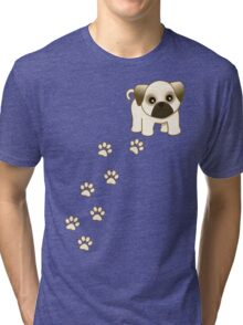 Cute Little Pug Puppy Dog Tri-blend T-Shirt