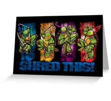 Shred This! Greeting Card