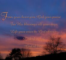 Give God your praise-inspirational by vigor