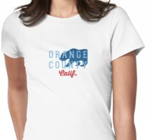 Orange County - California. Womens Fitted T-Shirt