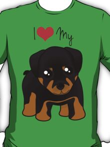 Cute Little Rottweiler Puppy Dog T-Shirt