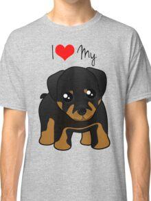 Cute Little Rottweiler Puppy Dog Classic T-Shirt