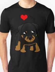 Cute Little Rottweiler Puppy Dog Unisex T-Shirt