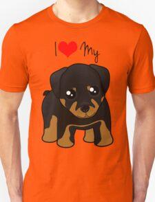 Cute Little Rottweiler Puppy Dog Unisex T-Shirt