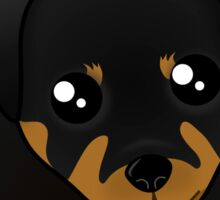 Cute Little Rottweiler Puppy Dog Sticker