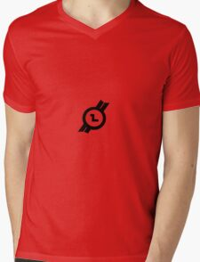 AlphaLogo Series: Letter L Mens V-Neck T-Shirt