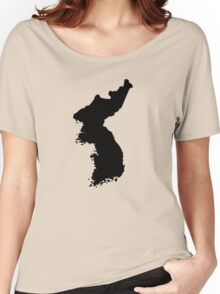 Map of Korea Women's Relaxed Fit T-Shirt