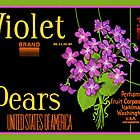 Violet Pears Fruit Crate Label by LABELSTONE