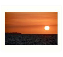 Sunset on Hervey Bay Art Print
