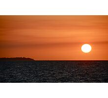 Sunset on Hervey Bay Photographic Print