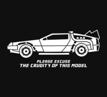 Delorean + text by danielasynner