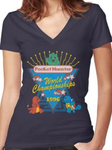 World Championship Women's Fitted V-Neck T-Shirt