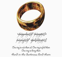 lord of the rings , Ring Inscription by icemanire