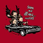 Sam and Dean...and Cas! by zerobriant