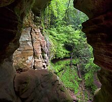 The Rock House in Ohio's Hocking Hills by Kenneth Keifer