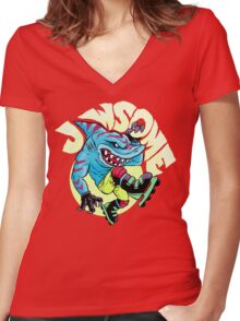 Jawsome! Women's Fitted V-Neck T-Shirt