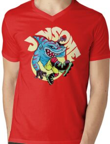 Jawsome! Mens V-Neck T-Shirt
