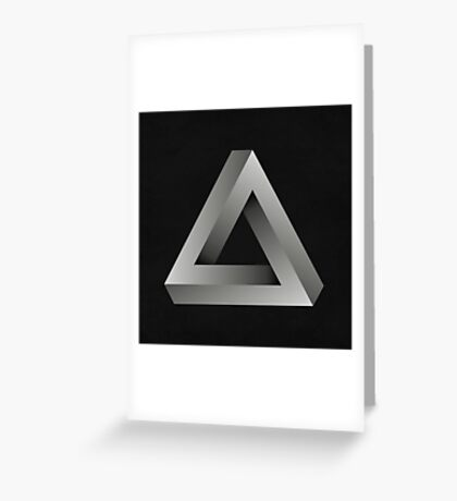Infinite Triangle Greeting Card