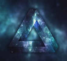 Infinite Triangle (Galaxy) by error23