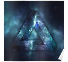 Infinite Triangle (Galaxy) Poster