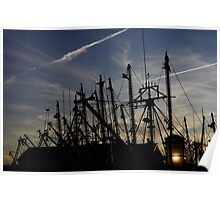 Sunset on the dock . . . Poster
