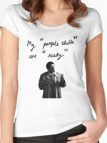 "My ""people skills"" are ""rusty"" Women's Fitted Scoop T-Shirt"