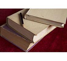 pencil and three books Photographic Print