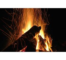 Hypnotic Flames Photographic Print