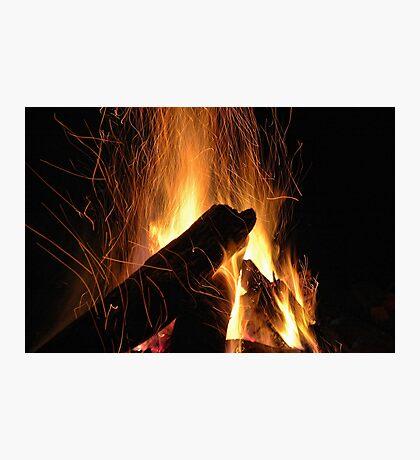 Hypnotic Flames Photographic Print