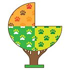 Dog Paw Seasons by Maria Bell