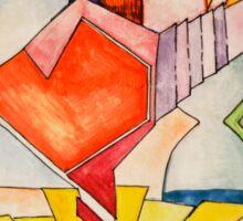 art, gonzo, abstraction Sticker