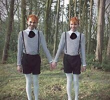 Tweedle Dee and Tweedle Dum by Lewkeisthename