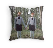 Tweedle Dee and Tweedle Dum Throw Pillow
