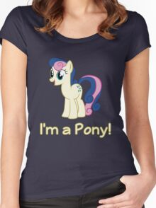 BonBon is a pony Women's Fitted Scoop T-Shirt