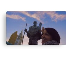 The Ferry Building - Gandhi and Kathy Peck Denny Canvas Print