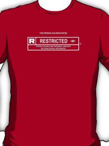 Parental Advisory - Rated R - (T-Shirt / iPhone & iPad Case) T-Shirt