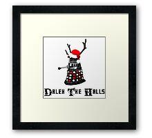 Dalek The Halls - Reindeer dalek santa Framed Print
