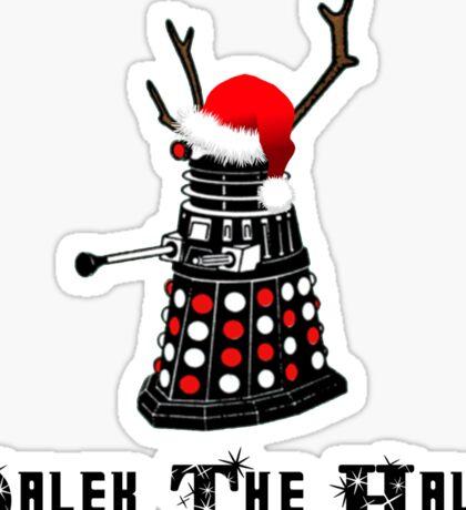 Dalek The Halls - Reindeer dalek santa Sticker