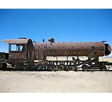 Abandoned Train in Uyuni Desert, Bolivia Photographic Print