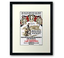 Jewish Army Recruitment Poster WW1 Framed Print